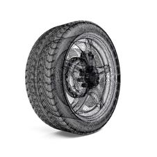 Drawing Car Wheel Royalty Free Stock Photos