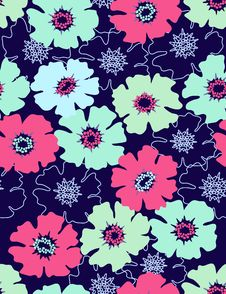 Free Floral Seamless Pattern Stock Photos - 8447533