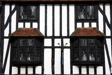 Free Tudor Beamed Building In Close Crop Stock Photography - 8448302