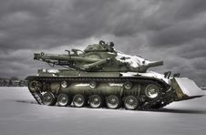 Free Snow Tank HDR Royalty Free Stock Image - 8449006