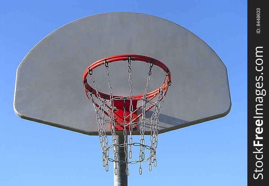 Basketball board.