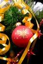 Free Christmas Balls On Pine Tree Royalty Free Stock Image - 8451496