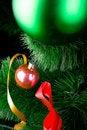 Free Christmas Balls On Pine Tree Stock Photography - 8451522