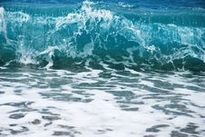 Turquoise Wave Royalty Free Stock Photos