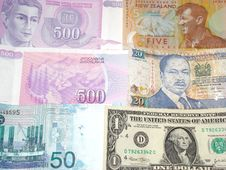 Free Multiple Country Money Royalty Free Stock Images - 8450149