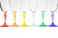 Free Isolated Colour Glasses 3 Royalty Free Stock Photo - 8450325