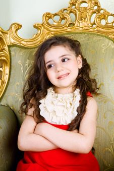 Free Small Girl With Long Hair Royalty Free Stock Image - 8451086
