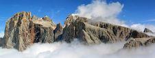 Alpine Peaks In Cloud Stock Photos