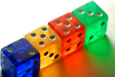 Free Dices Royalty Free Stock Photography - 8451187