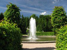 Fountain In Royal Garden Stock Photos