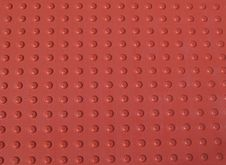 Free Red Non-Slid Pattern On A Sidewalk Royalty Free Stock Image - 8452116