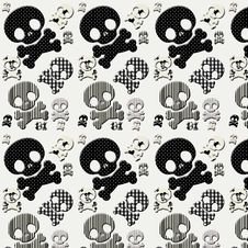 Black And White Skull And Crossbones Royalty Free Stock Images