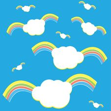 Flying Rainbow Clouds Stock Photos