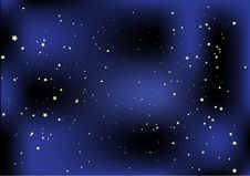 Night With Stars Vector Illustration Royalty Free Stock Photo