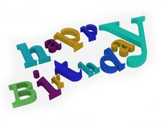 Free Happy Birthday Text Royalty Free Stock Images - 8452379
