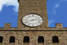 Clock On The Tower Royalty Free Stock Photography
