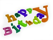 Free Happy Birthday Text Isolated On White Background Stock Photo - 8452490