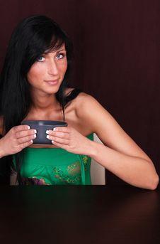 Free Cup Girl Stock Photos - 8452833