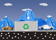 Free Recycling Cars Royalty Free Stock Image - 8452976