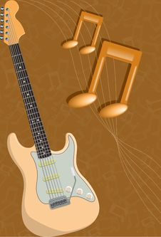 Free Guitar And Notes Stock Photo - 8453080