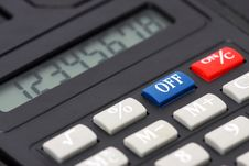 Free Calculator Royalty Free Stock Photography - 8453437