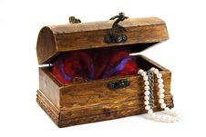 Free Opened Chest With Treasures Stock Photos - 8453463