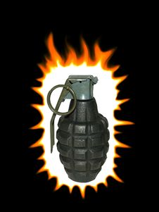 Free Exploding Hand Grenade Stock Photography - 8453962
