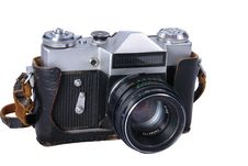 Old Camera(clipping Path Included) Royalty Free Stock Image