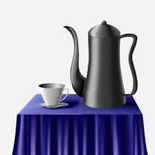 Free A Kettle And A Cup. Stock Image - 8454241