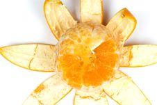 Free Slice Orange With Peel Stock Photography - 8454502
