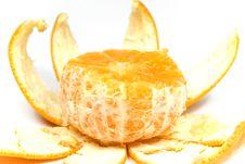 Free Orange With Peel Royalty Free Stock Images - 8454669