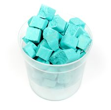 Cyan Crushed Chalk Royalty Free Stock Photos
