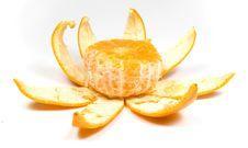 Free Orange With Peel Royalty Free Stock Photography - 8454857