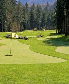 Free Golf Putting Range Royalty Free Stock Photos - 8455058