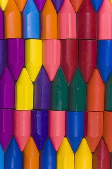 Multicolors Wax Crayons Royalty Free Stock Images