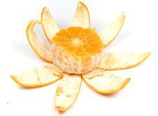 Free Orange With Peel Royalty Free Stock Photos - 8455098