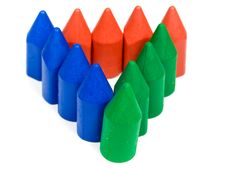 Free Triangle From Wax Pencils Royalty Free Stock Image - 8455276