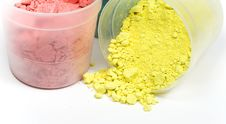 Free Magenta And Yellow Crushed Chalk Royalty Free Stock Images - 8455379