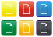 Paper Card Web Button Royalty Free Stock Photography