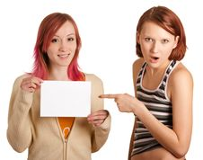Paper Sheet And Strong Surprise Stock Photography