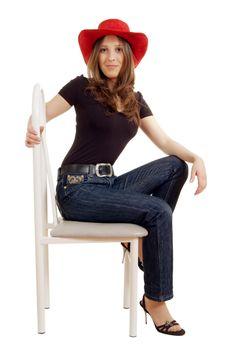 Free Girl On A Chair Stock Photos - 8455633
