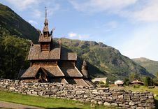 Free Stave Church Royalty Free Stock Photography - 8455657