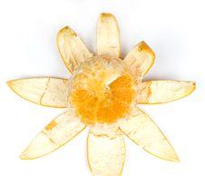 Free Slice Orange With Peel Royalty Free Stock Photos - 8456238