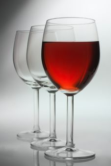 Free Three Wine Glasses Stock Photos - 8456243