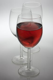 Free Three Wine Glasses Royalty Free Stock Photo - 8456255