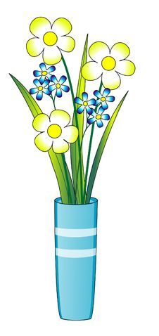Free Flowers In A Blue Vase Royalty Free Stock Image - 8456276