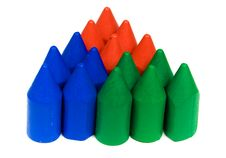 Free Triangle From Wax Pencils Royalty Free Stock Photo - 8456315