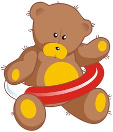 Free Teddy Bear With Life Buoy Royalty Free Stock Image - 8456516