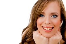 Free Close View Of Smiling Model Stock Photography - 8456532