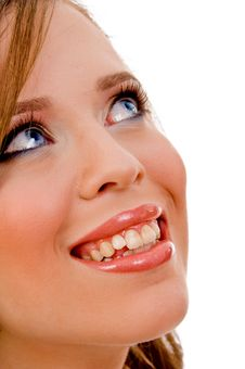 Free Halflength View Of Smiling Female Face Royalty Free Stock Photography - 8456557